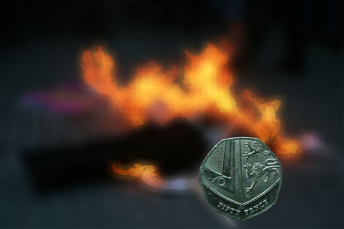 Judas effegy on Fire 50p