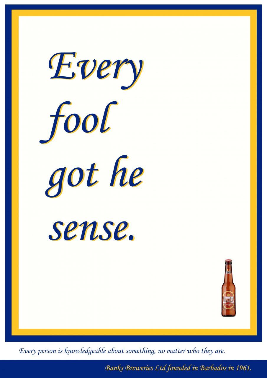 Every fool got he sense