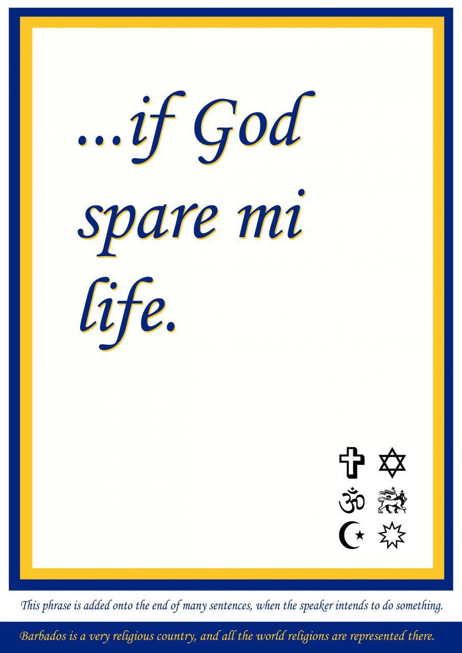 If God spare mi life