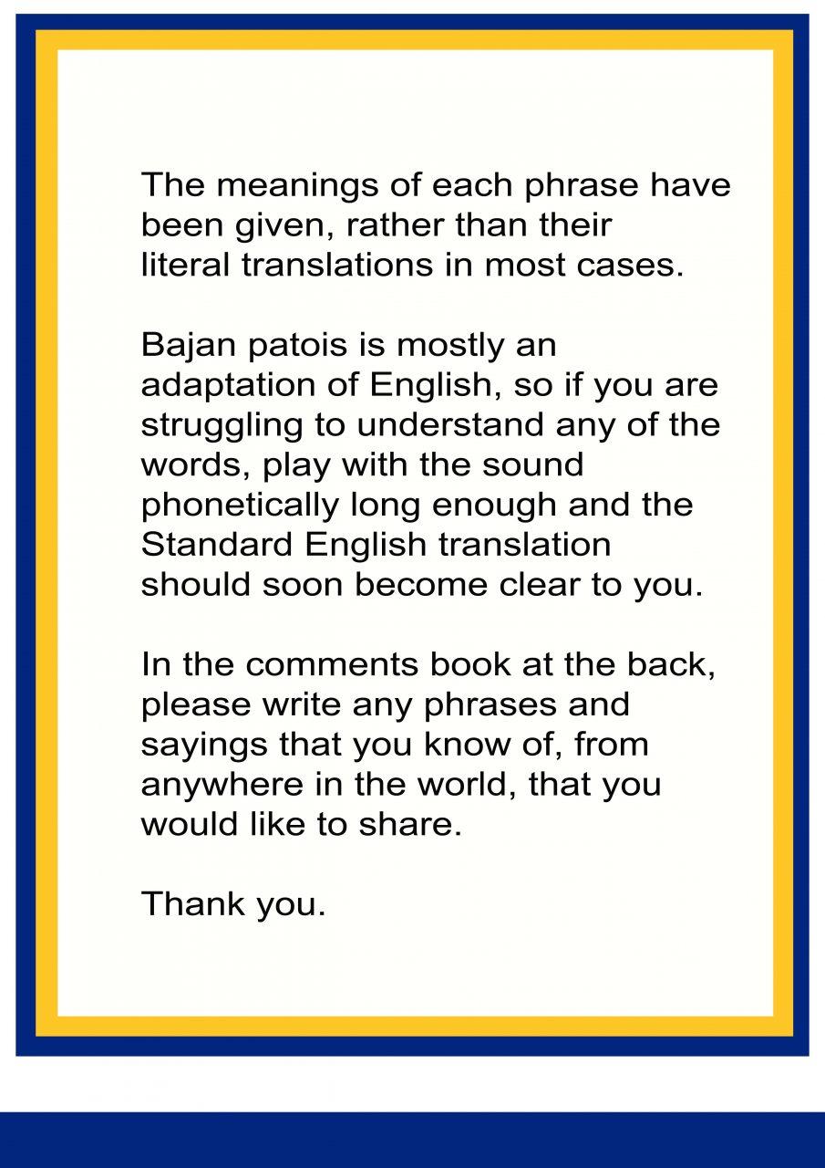 TRANSLATION NOTICE